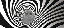 Spiraal zwart wit papier murales AG Design PiP studio wallpaper