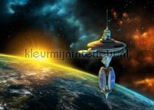 Uitzicht op aarde fototapeten AG Design weltraum