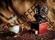 Koffiebonen maler fototapet AG Design verdenskort