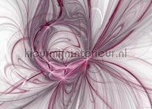Paars lijnenspel papier murales AG Design PiP studio wallpaper