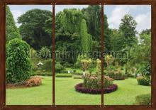 Tuin uitzicht fototapet AG Design verdenskort