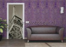Eiffeltoren van onderen fotobehang AG Design Steden Gebouwen