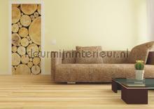 Kopse boomstammen fotobehang AG Design hout