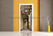 Oud gebouw met klok fotobehang AG Design Steden Gebouwen