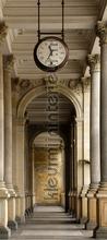 Oud gebouw met klok fotomurali AG Design Photomurals Premium Collection ftn-v-2895