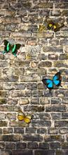 Stenen muur en vlinders fotomurali AG Design sport