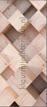 Diagonaal houtblok fotomurali AG Design Photomurals Premium Collection ftn-v-2931