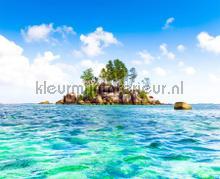 Eiland in zee fototapet AG Design verdenskort