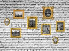 City paintings on a wall fototapet AG Design verdenskort