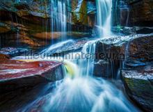 Vallend water fototapet AG Design verdenskort
