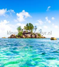 Small island fotobehang AG Design Zon Zee Strand