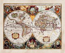 Antique world photomural AG Design world maps