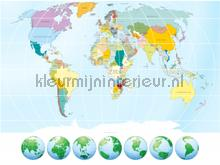 Worldmap photomural AG Design Photoprints-wall-collection