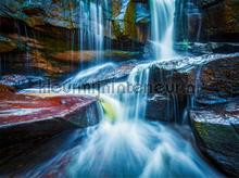 Waterfall close by fotobehang AG Design Kunst---Ambiance