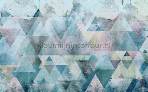 triangles blue fotobehang p018a-vd4 Pure Komar