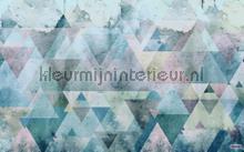 triangles blue fotobehang Komar Pure p018a-vd4