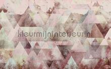 triangles red fotobehang Komar Pure p018b-vd4