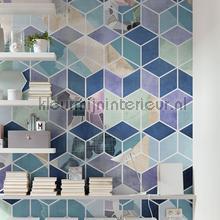 geometric blue fotobehang Komar Pure p024-vd2