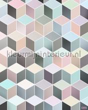 Cubes pastel fotobehang Komar Grafisch Abstract