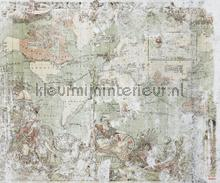 Britisch empire photomural Komar world maps