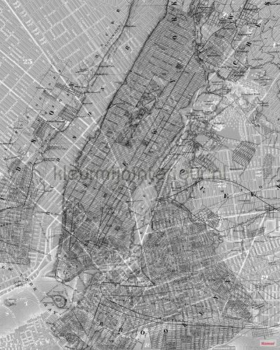 nyc map fotobehang p033-vd2 Pure Komar