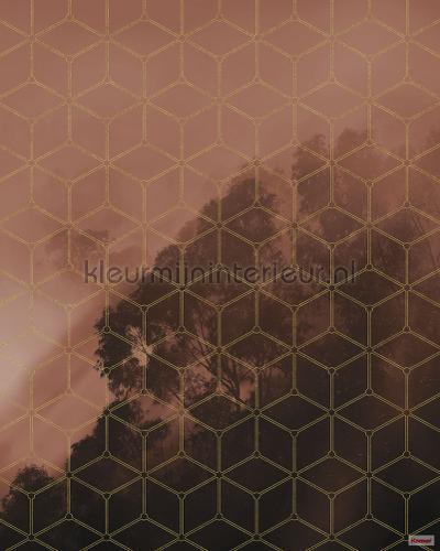golden grid fotobehang psh099-vd2 Pure Komar