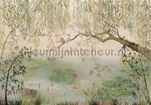 Lotus fotobehang Coordonne Oosters Trompe loeil