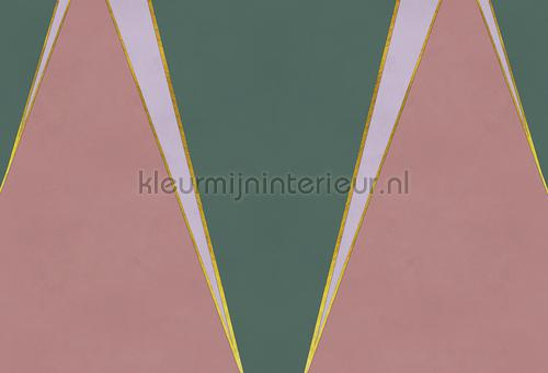 Geometric Mountain strawberry fotomurales 6800203 Random Papers 2 Coordonne