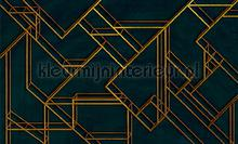 L. Geometric dark blue fotomurales Coordonne Random Papers 2 6800207