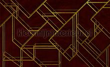 L. Geometric wine fotobehang Coordonne Grafisch Abstract