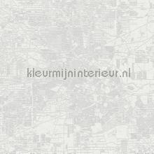 Urban Map fotobehang Coordonne Grafisch Abstract