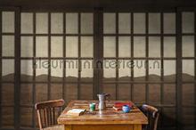 New Japanese Window fotobehang Coordonne Oosters Trompe loeil