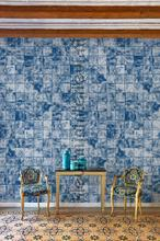 Waves Tiles papier murales Coordonne structures