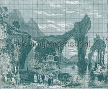 Illustration Tiles fotobehang Coordonne Oosters Trompe loeil