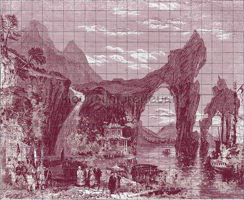 Illustration Tiles fotobehang 6800609 Oosters - Trompe loeil Coordonne