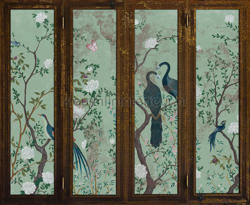 Edo Screen aqua fotobehang 6800719 Oosters - Trompe loeil Coordonne