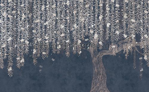 Cora dark blue fotobehang 6800727 Oosters - Trompe loeil Coordonne