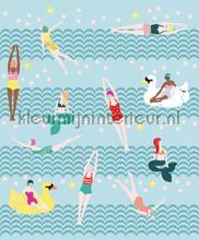Lovely ladies bathing fotobehang Eijffinger Marine-Onderwaterwereld