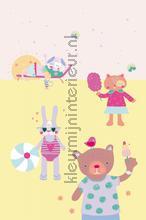 Sweet girls on holiday fotobehang Eijffinger Rice 359171