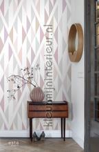 Ruitwerk motief papier murales Esta home PiP studio wallpaper