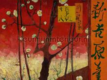 Bloeiende pruimenboomgaard (naar Hiroshige) fototapet BN Wallcoverings Van Gogh II 200327