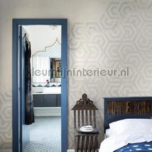 Hexagon photomural Noordwand Mural room set photo's