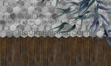 floral tiles fotomurais Noordwand Vanilla Lime 014260