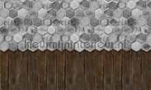 floral tiles fotomurais Noordwand Vanilla Lime 014262