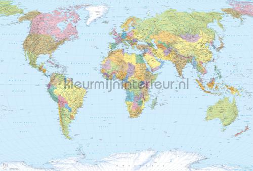 World Map fototapeten XXL4-038 Flees collection Komar
