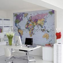 World map photomural Komar world maps