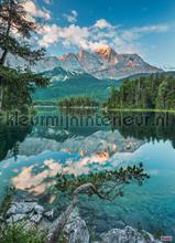Mirror lake fototapet Komar verdenskort