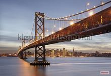 Bay bridge fotobehang Komar Steden Gebouwen