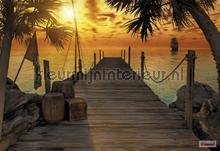 Treasure island fotobehang Komar Zon Zee Strand