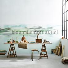 Nile green fotobehang Khroma Modern Abstract